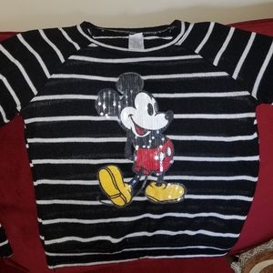 Disney sequins Micky top L